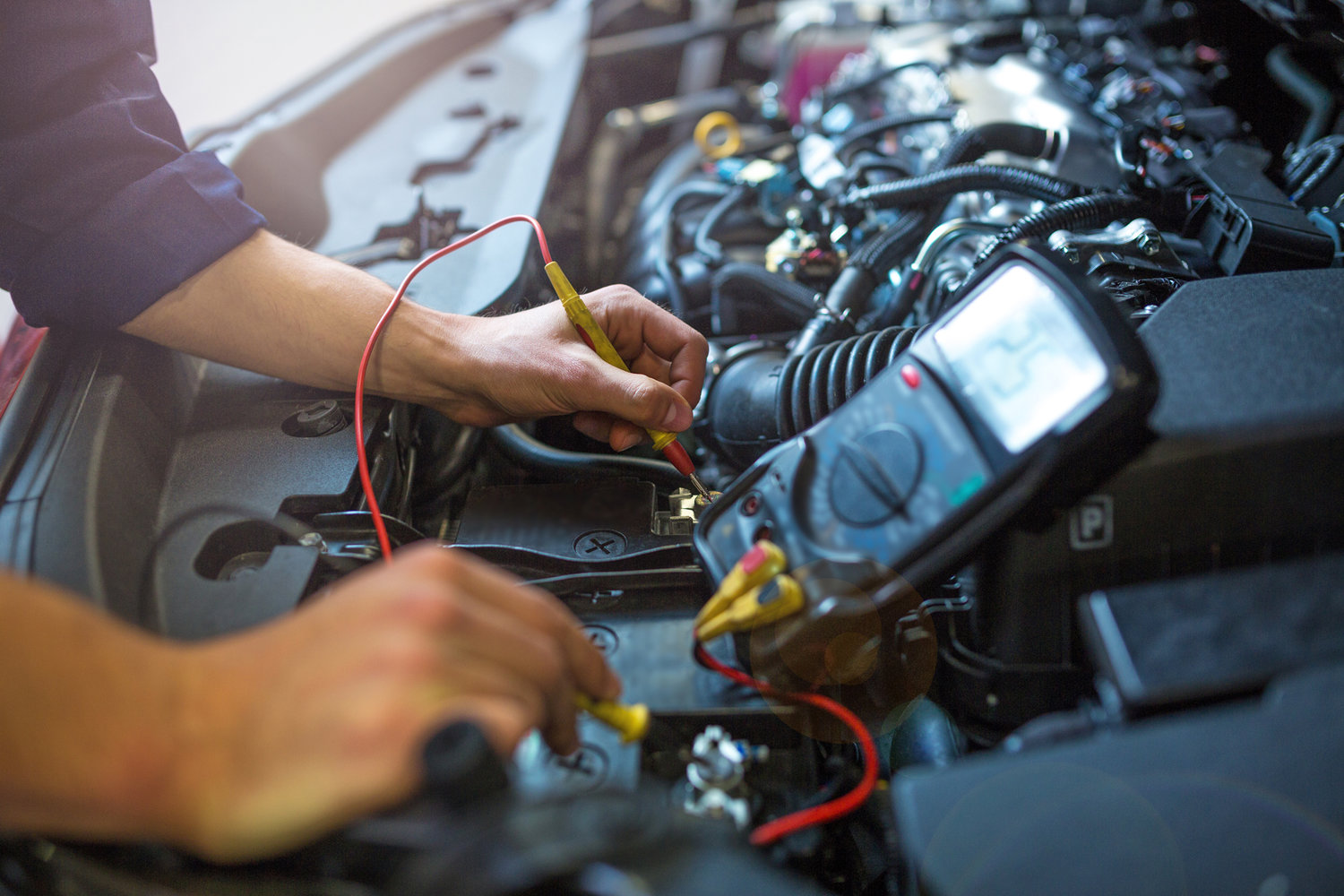 Wagga City Auto Centre Mechanic Automotive Wiring Specialist Bigstock Checking Car Bat 218243365 Web
