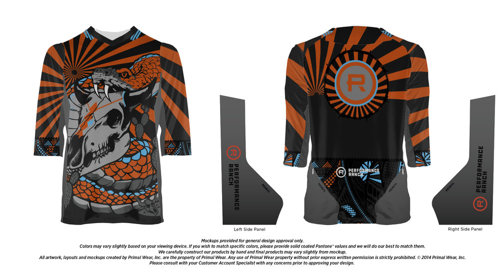 MTB 3/4 Sleeve Jersey   Click Here  to Pre-Order - $68