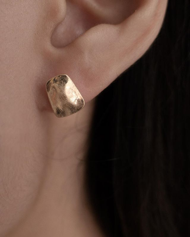 🏷Square earring 簡約霧感方形耳環