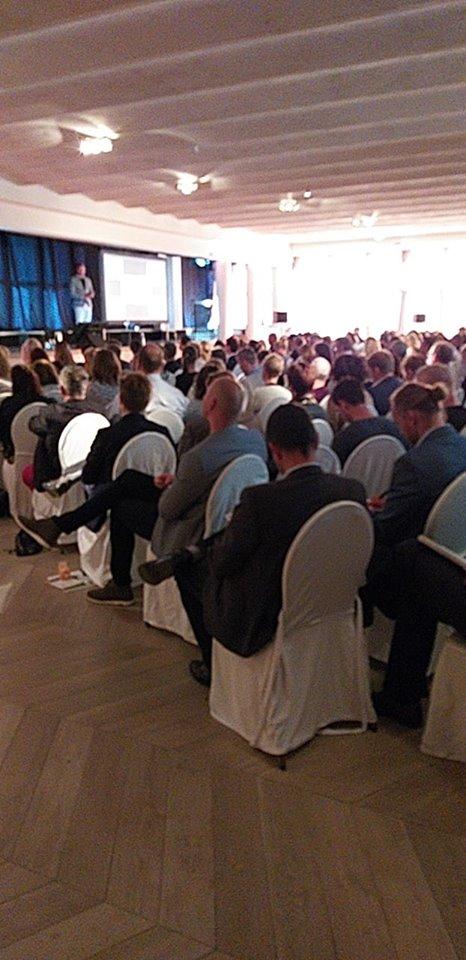 full house op het Happiness@work congres 2018 in het Kasteel van Brasschaat, mede georganiseerd door Semco Style Institute BeLux.