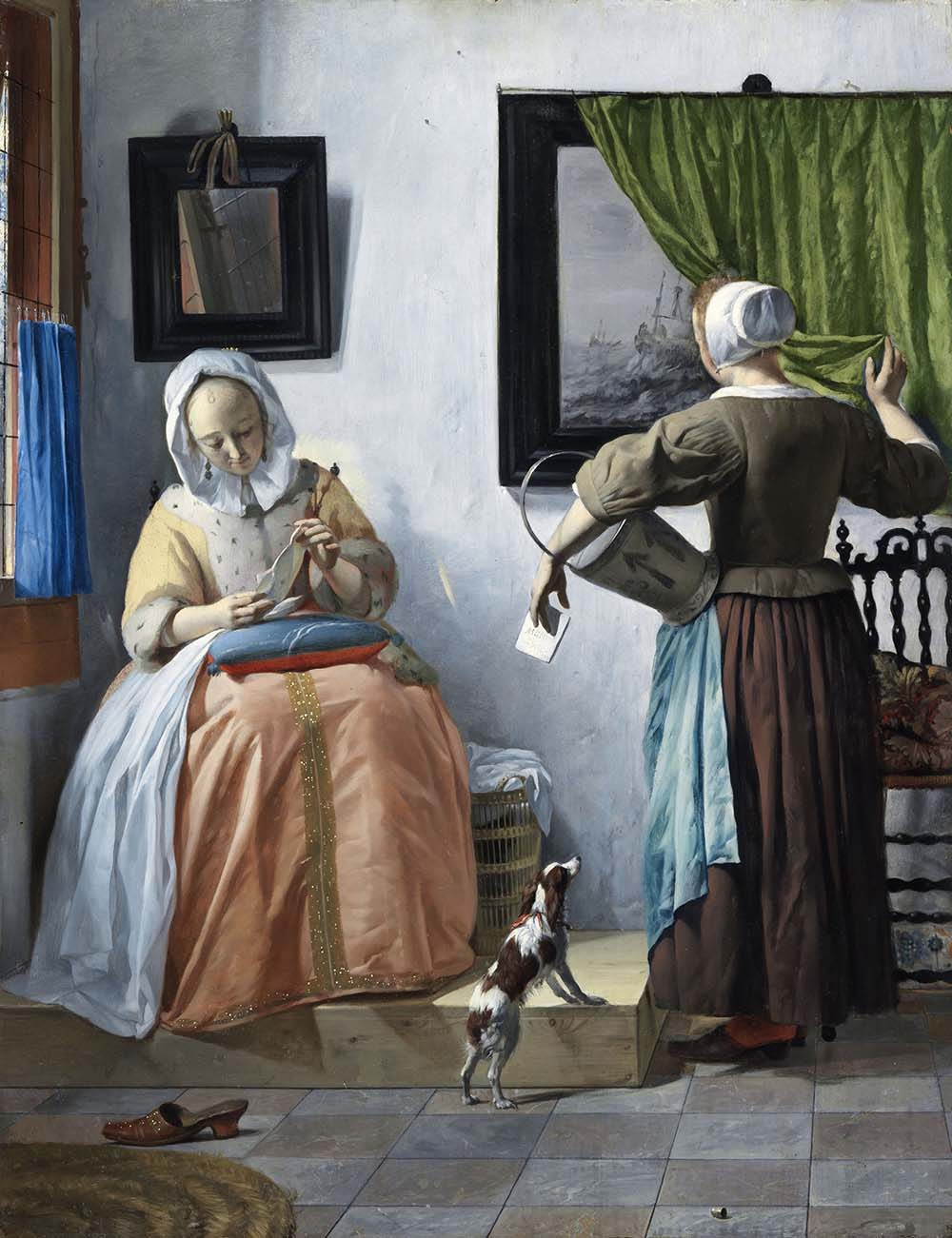 Gabriel Metsu, A woman reading a letter , 1664-1666. Oil on panel. 52.5 x 40.2 cm, Dublin, National Gallery of Ireland, Sir Alfred and Lady Beit, 1987 (Beit Collection) © Dublin, National Gallery of Ireland