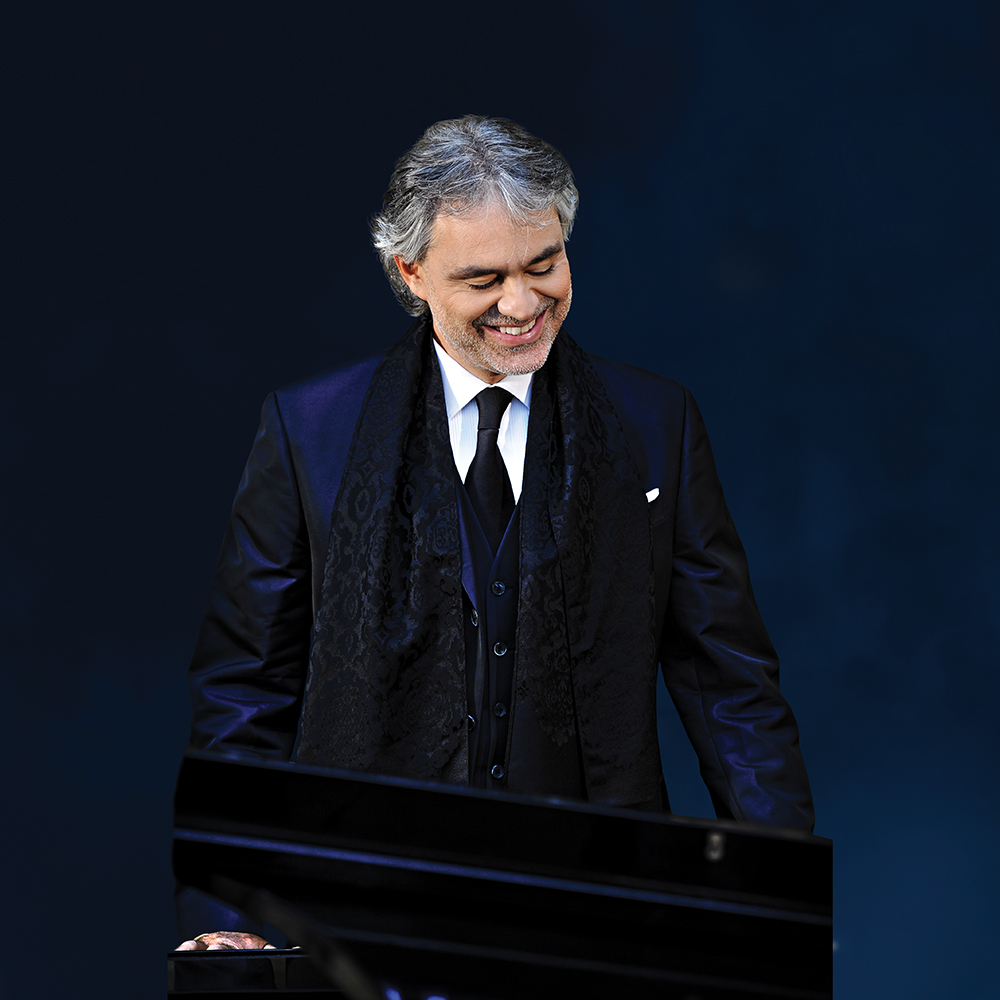 Lead Singer - Andrea Bocelli, Photo courtesy of Intimissimi