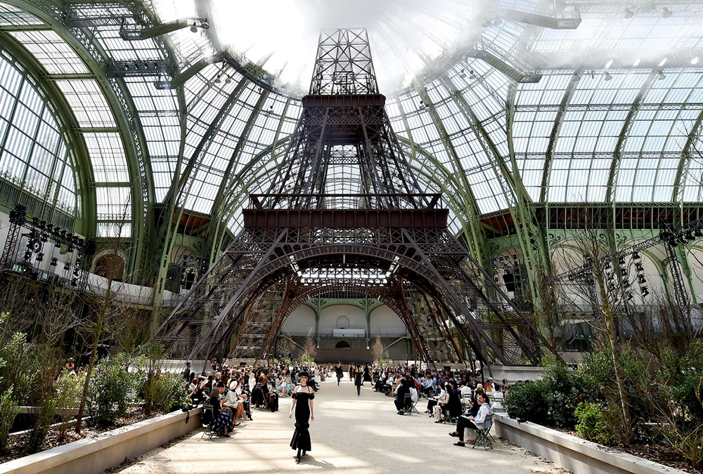 Overview of the Chanel couture menagerie. Photograph: Stephane Cardinale/Corbis/Getty Images. Photo courtesy of The Guardian