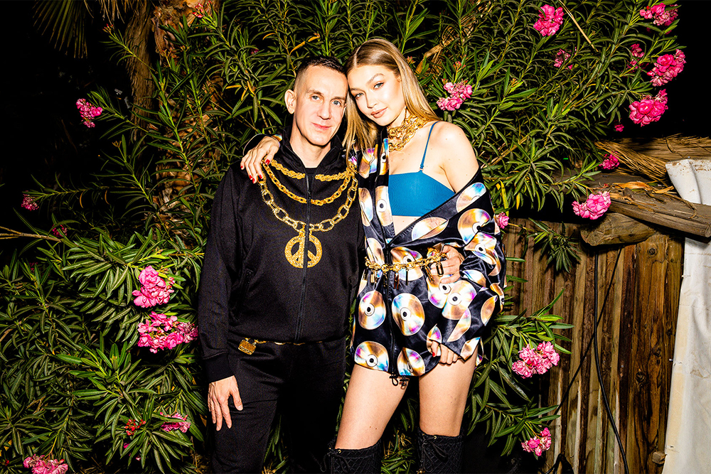 Jeremy Scott and Gigi Hadid in the first looks from the HMoschino collection