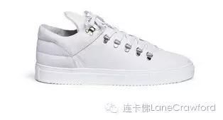 FILLING PIECES荔枝纹真皮低筒运动鞋