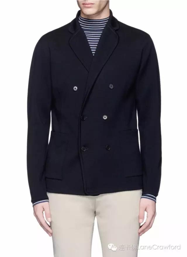 CAMOSHITA 羊毛针织休闲西服外套