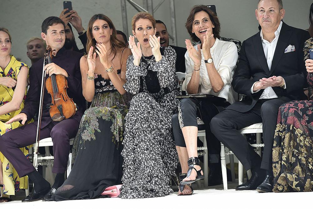 Celine Dion, Giambattista Valli Fall 2016 Couture, @Wire Image