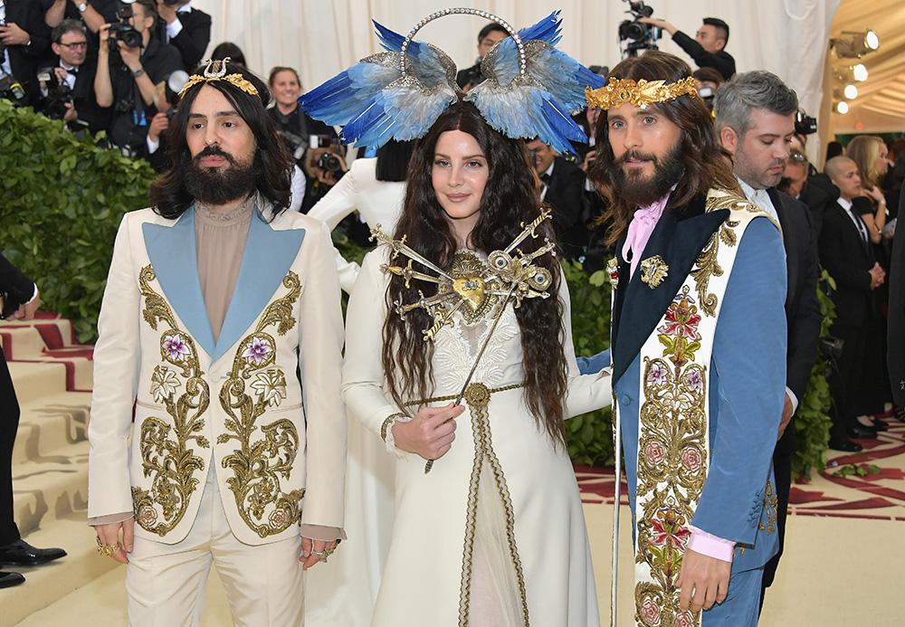 Gucci - Alessandro Michele, Lana Del Rey, Jared Leto@2018 MetGala