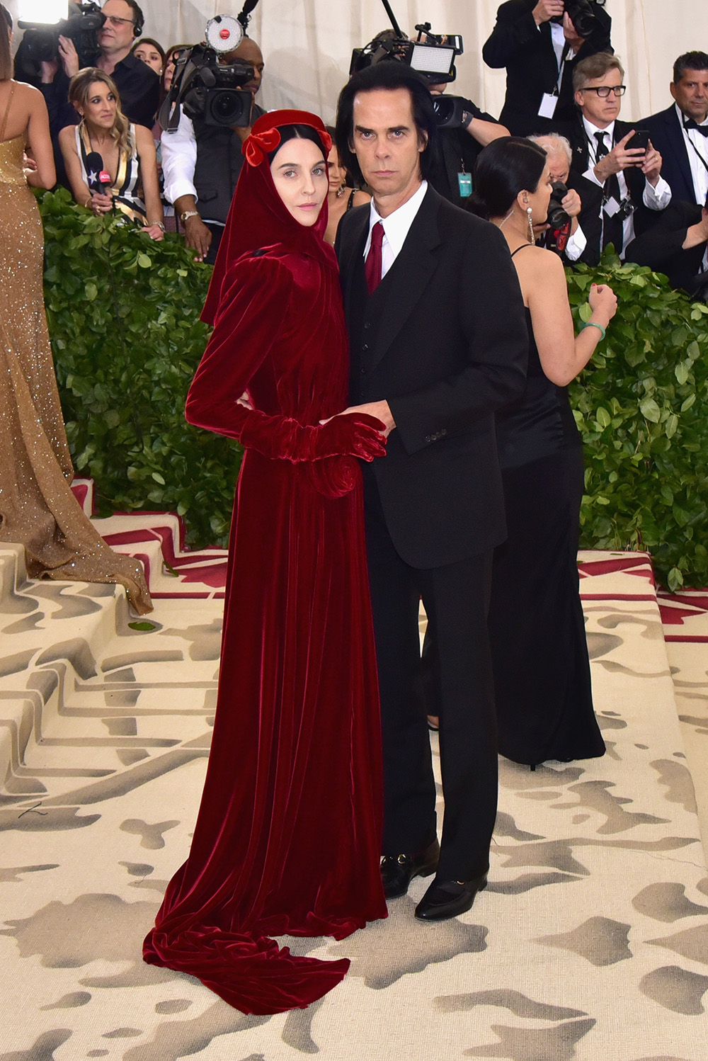 Gucci - Susie and Nick Cave@2018 MetGala
