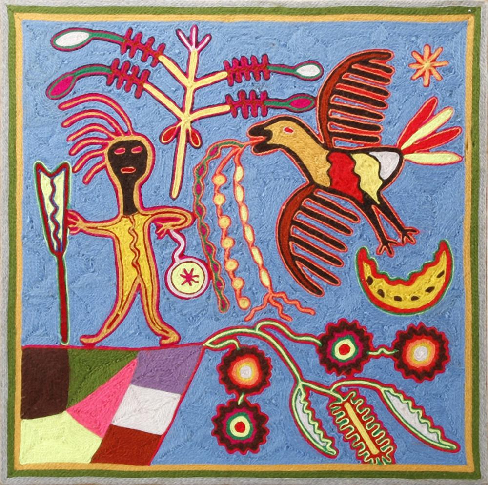 Reymundo De la Rosa, Elder Brother Watakame, 1979, Southwest Museum of the American Indian Collection, Autry Museum of the American West, purchased by The Southwest Museum Acquisition Fund, © Reymundo De la Rosa