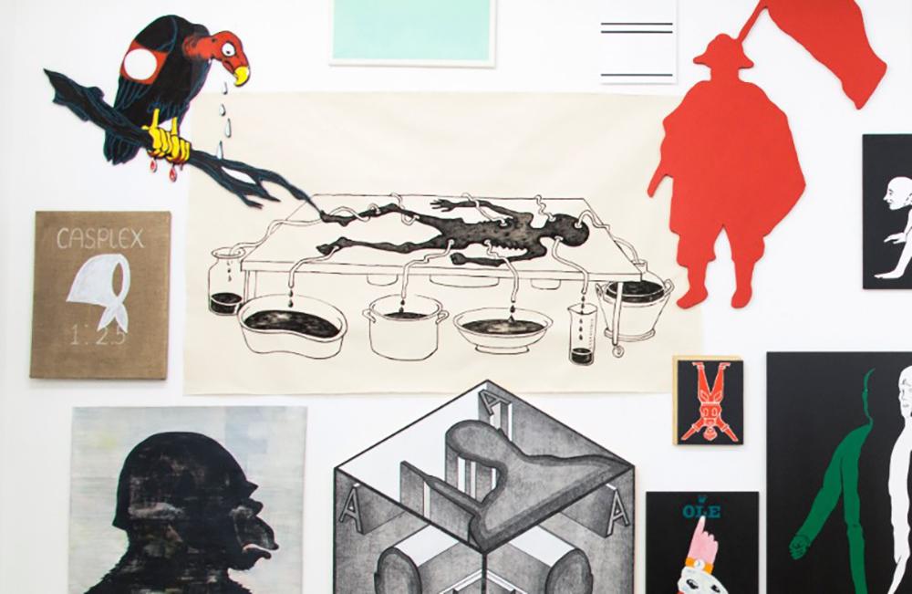 Claudia Martínez Garay, The Leftovers, 2016. Mixed media, 145 5/8 x 185 in (369.6 x 470 cm). Courtesy the artist and Ginsberg Galería, Lima, with support by Rijksakademie van Beeldende Kunsten, Amsterdam. Photo: Arturo Kameya