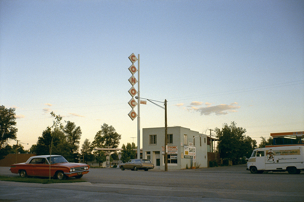Stephen Shore. Kanab, Utah, June 1972. 1972. Chromogenic color print, printed 2017, Chromogenic color print, 3 1/16 × 4 5/8″ (7.8 × 11.7 cm). Courtesy the artist. © 2017 Stephen Shore