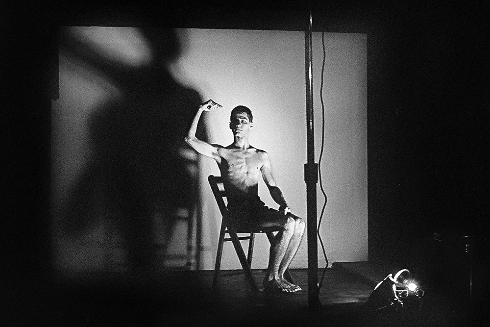 Acts of Live Art at Club 57. Pictured: Larry Ashton. 1980. Photograph by and courtesy Joseph Szkodzinski