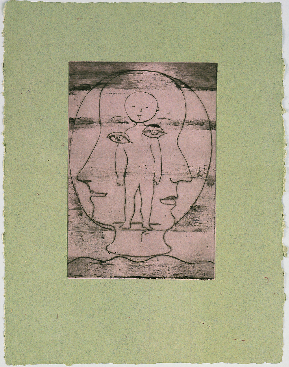 Louise Bourgeois (1911–2010). Self Portrait. 1990. Drypoint. Sheet: 26 3/8 x 20 1/16″ (67 x 51 cm). The Museum of Modern Art, New York. Gift of the artist. © 2017 The Easton Foundation/Licensed by VAGA, NY.