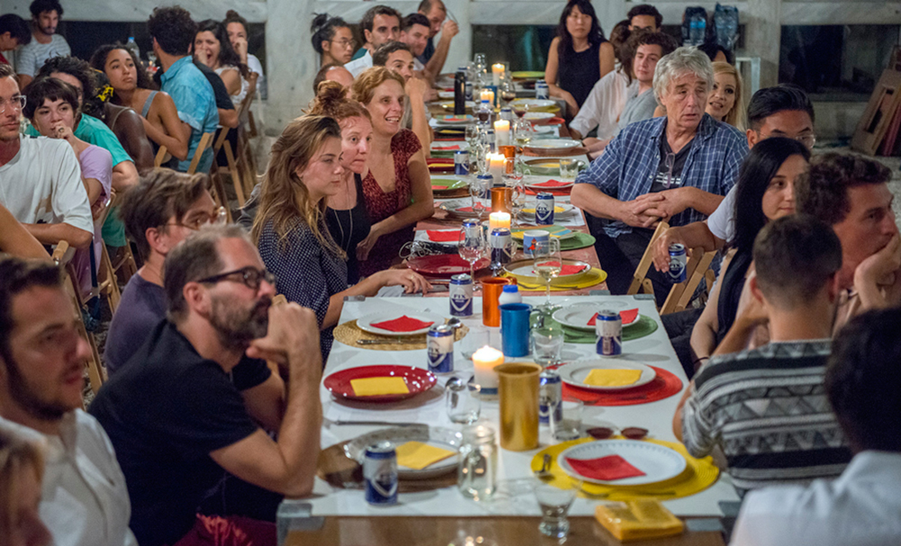 IdeasCity Athens 2016 dinner provided by Options Food Lab Athens. Courtesy: ΝΕΟΝ + New Museum, New York © Panos Kokkinias