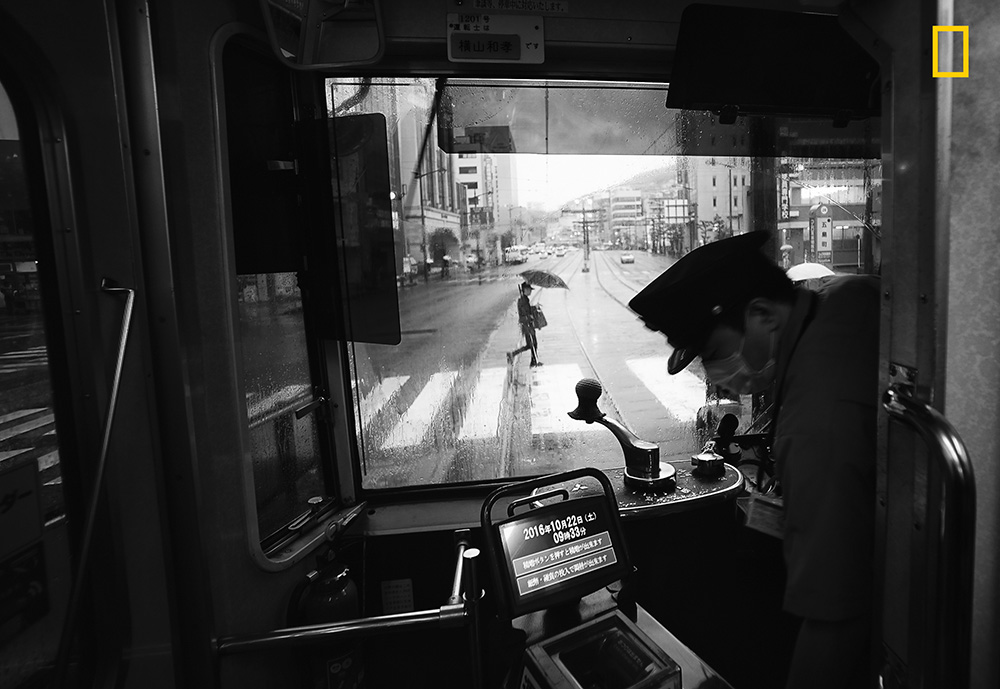 First place winner in the Cities category - 'Another rainy day in Nagasaki, Japan' Picture: Hiro KurashinaSource:National Geographic