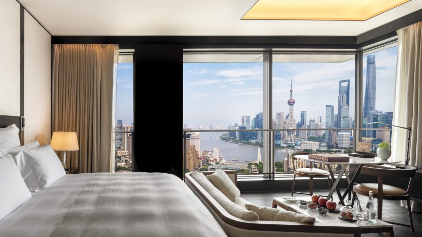 A view from the room at Bvlgari Shanghai Hotel