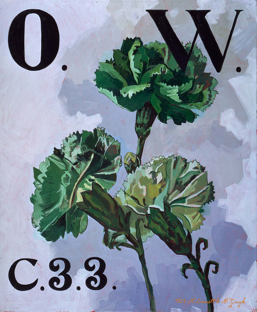 McDermott & McGough The Green Carnation, Oscar Wilde, O.W. C.33 (1923), 1994 Oil on linen, 30 x 25 inches Collection of Bruno Bischofberger, Switzerland Courtesy of the Artists
