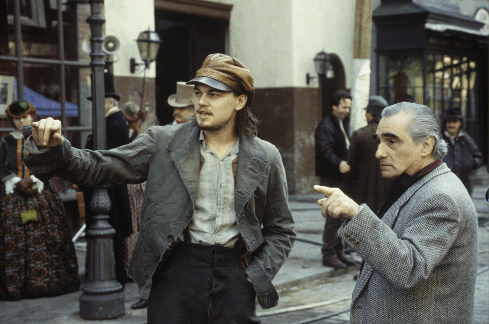 Gangs of New York Set in Cinecitta' with Leonardo di Caprio and Scorsese.jpg