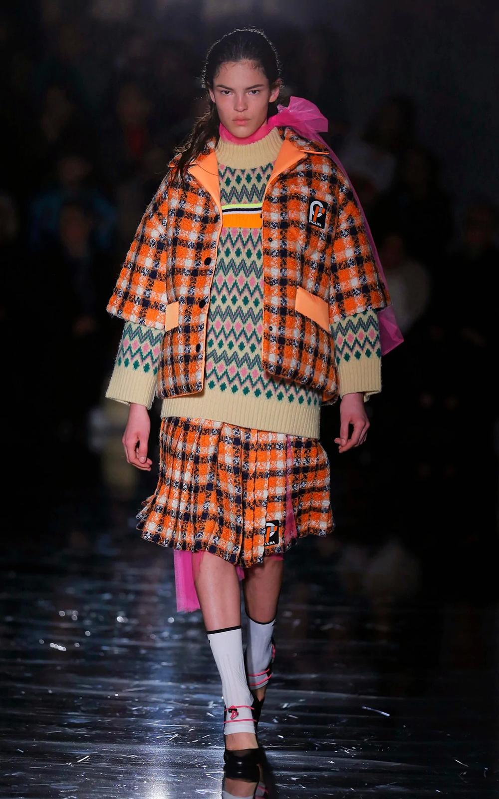 A model walks the Prada AW18 catwalk CREDIT GETTY