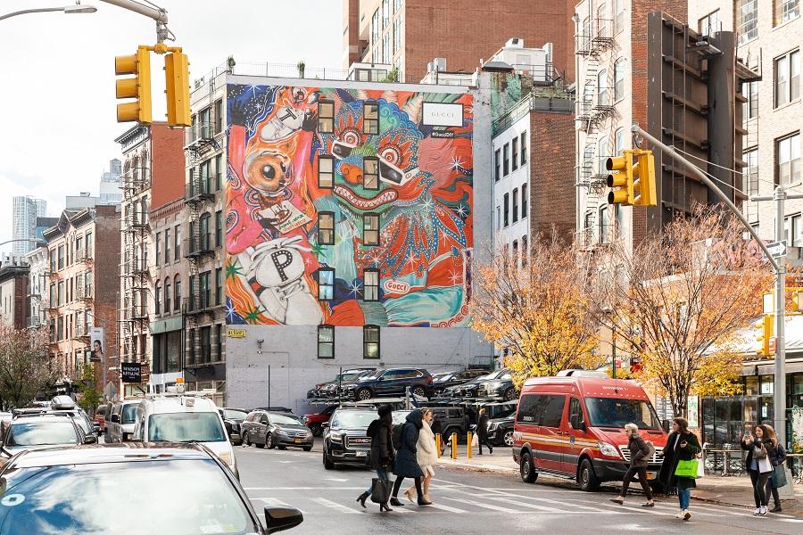 Gucci ArtWall DIY NYC_Courtesy of Colossal Media