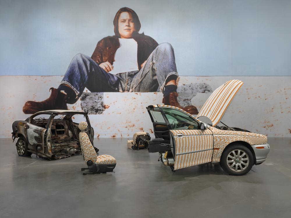 """Sarah Lucas: Au Naturel,"" 2018. Exhibition view: New Museum, New York. Photo: Maris Hutchinson / EPW Studio"