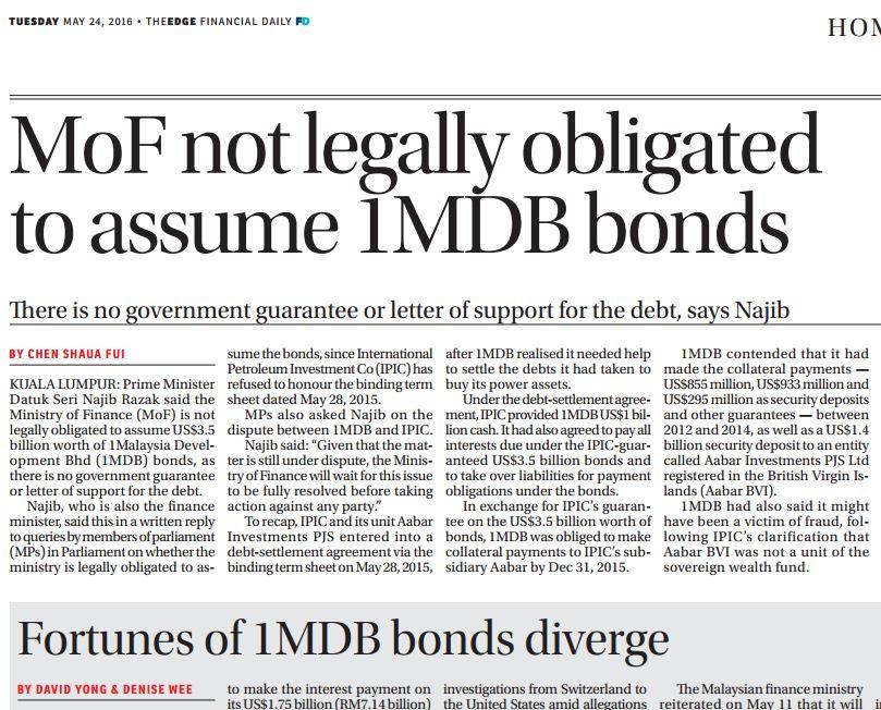 1MDB (update 61): US AG describes 1MDB-linked assets as