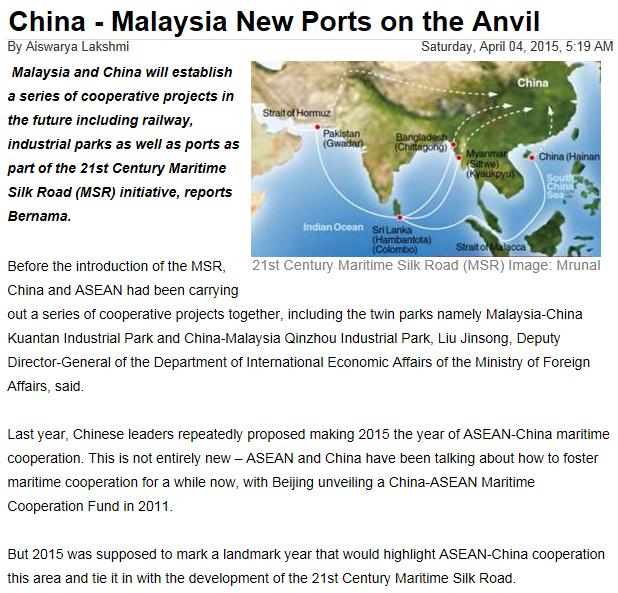 palm oil — China-Malaysia, Malaysia political-economy and
