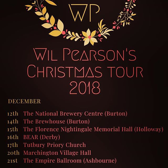 *CHRISTMAS TOUR DATES ANNOUNCED!!* Contact me for tickets 🎅🏼☃️🎄