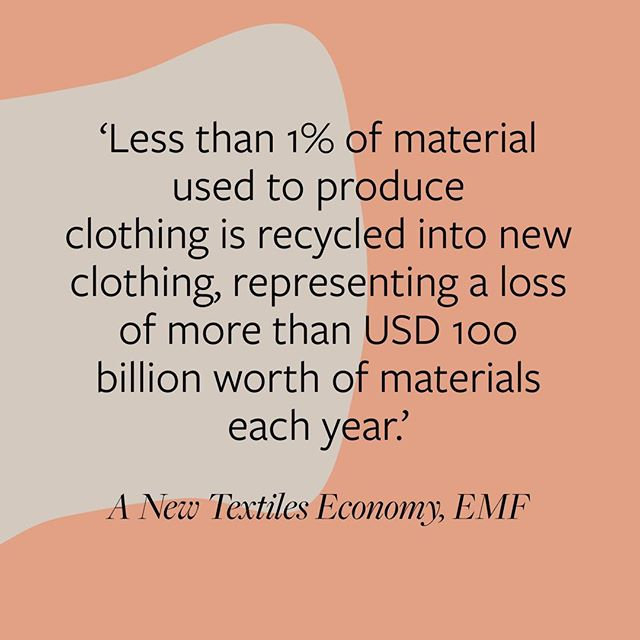 This opens up a huge opportunity for innovators and designers. See waste as a resource and start creating! #circulareconomy #sustainability #fashionrevolution