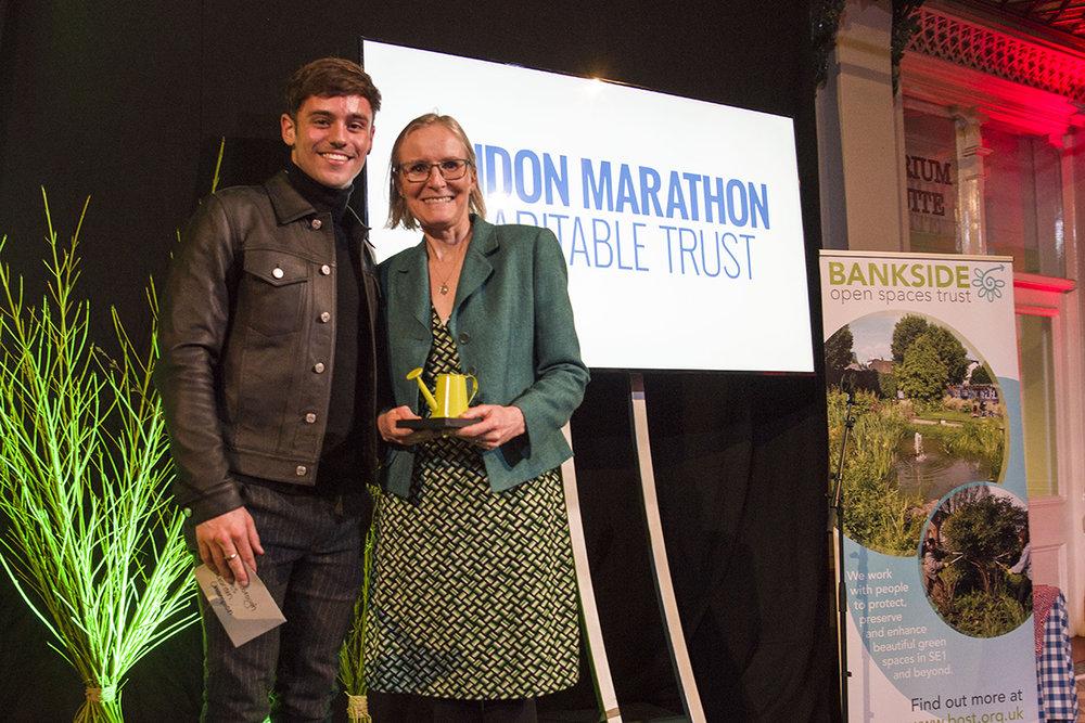 Tom Daley and London marathon charitable Trust representative web.jpg