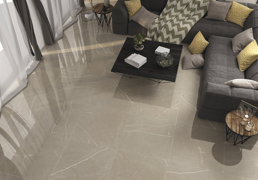 Polished Beige Porcelain Tiles