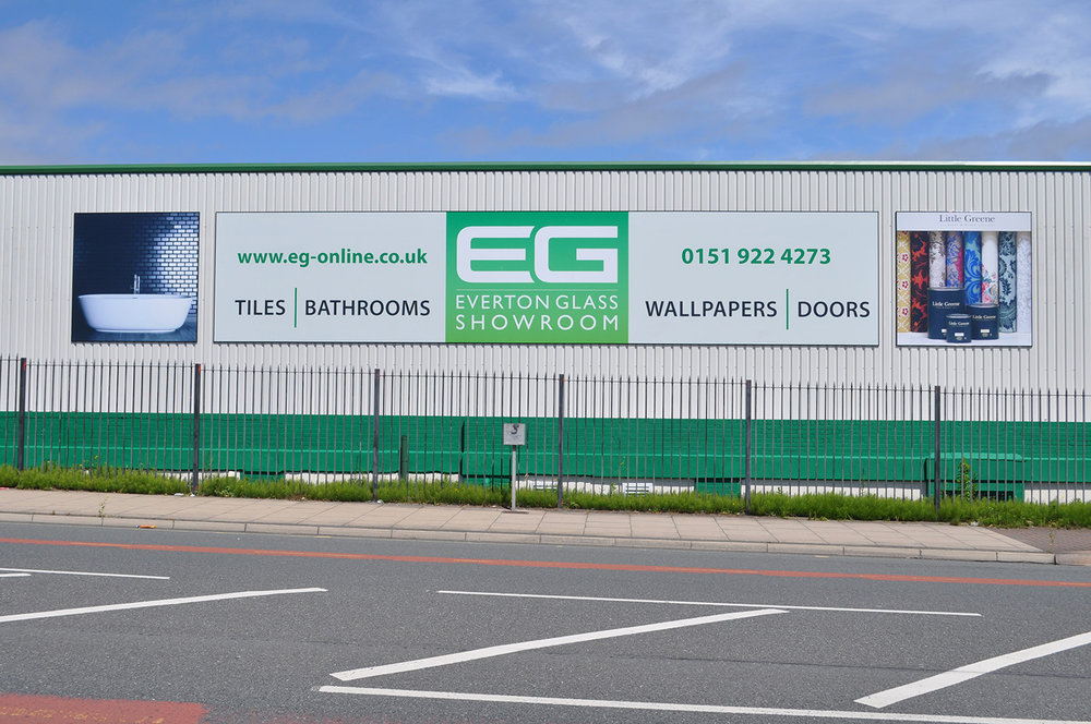 Our showroom is just off Hawthorne Road, Bootle