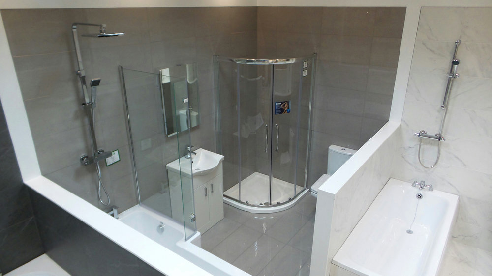Bathroom Displays at our Bootle Showroom