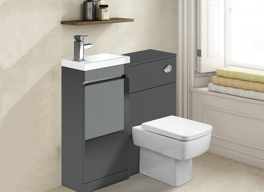 Metallic Grey Bathroom Furniture
