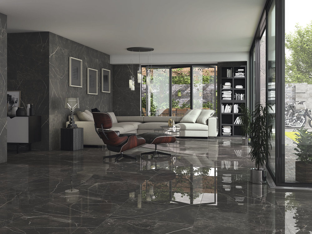 Polished Porcelain Floor Tile