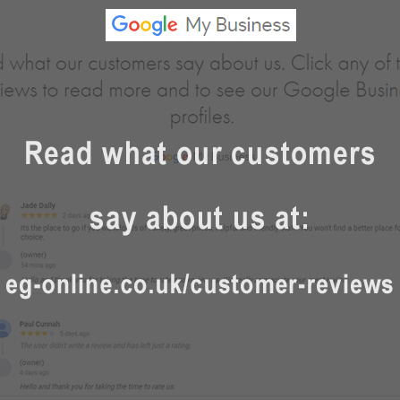 Customer Reviews on Google
