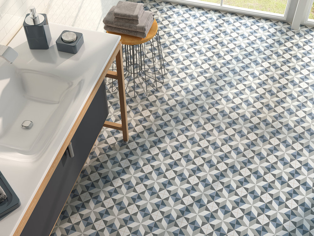 Matt Porcelain Patterned Tile