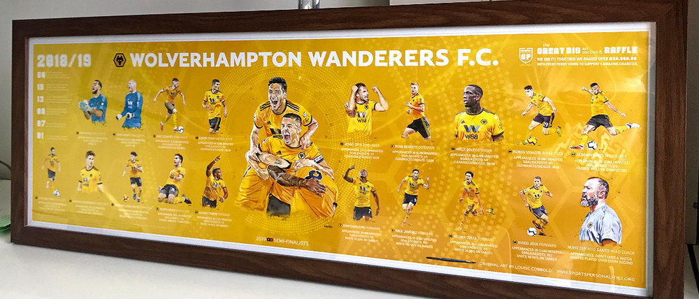 95cm x 33cm Panoramic Team 'Celebration' Poster (Frame purchased separately)