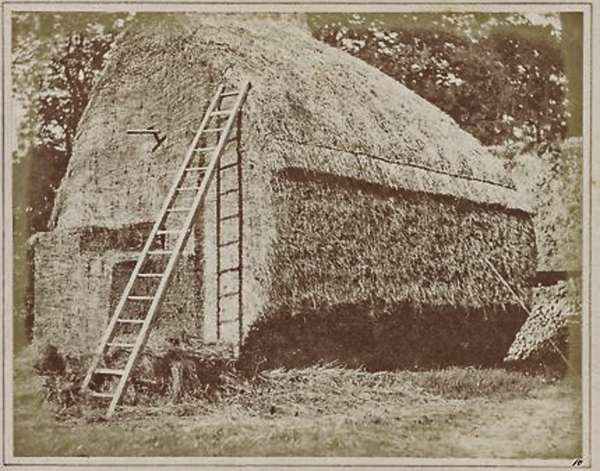 William Henry Fox Talbot –  The Haystack  c1841 –  The Met, salted print from paper negative
