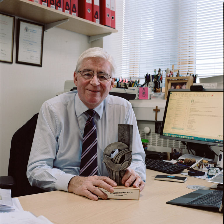 Graham Land:  Professor Geoffrey Maitland in his office , April, 2018