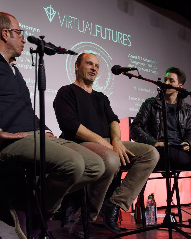 Graham Land:  Matt Eagles in a Virtual Futures Salon panel 'Biohacked Bodies', London, January, 2018