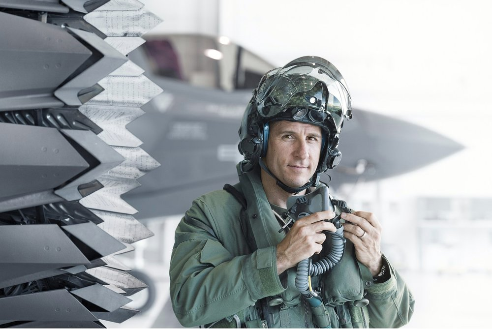 'Lt. Col. David Burke F35 Pilot' by Stephen Wilkes