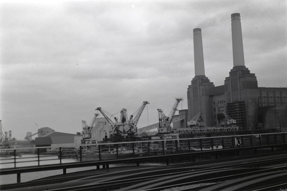 Battersea Power Station taken by Graham Land, April, 1973 (Digital scan)