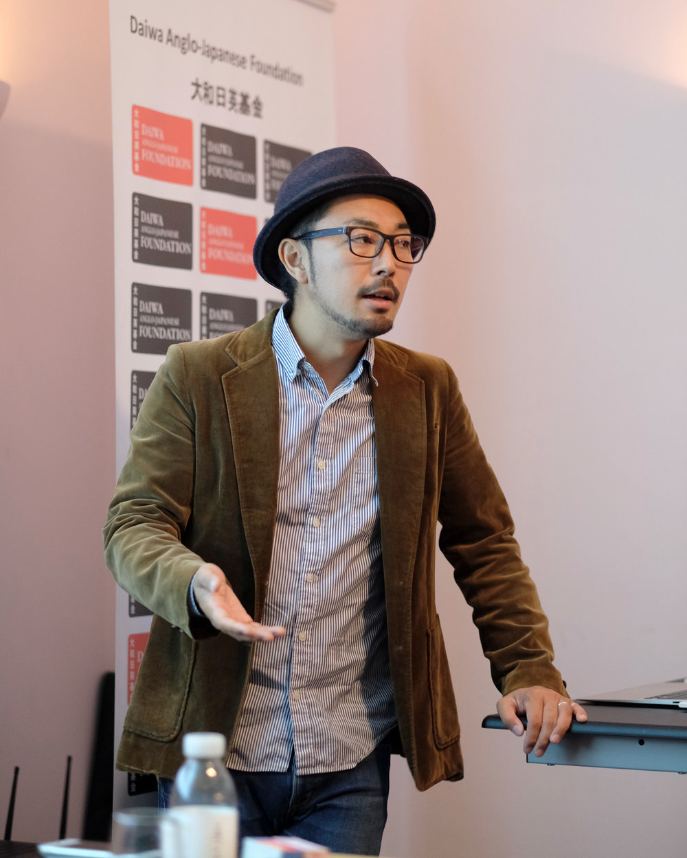 Kazuma Obara giving a presentation on the 18th October, 2018 . Taken by Graham Land