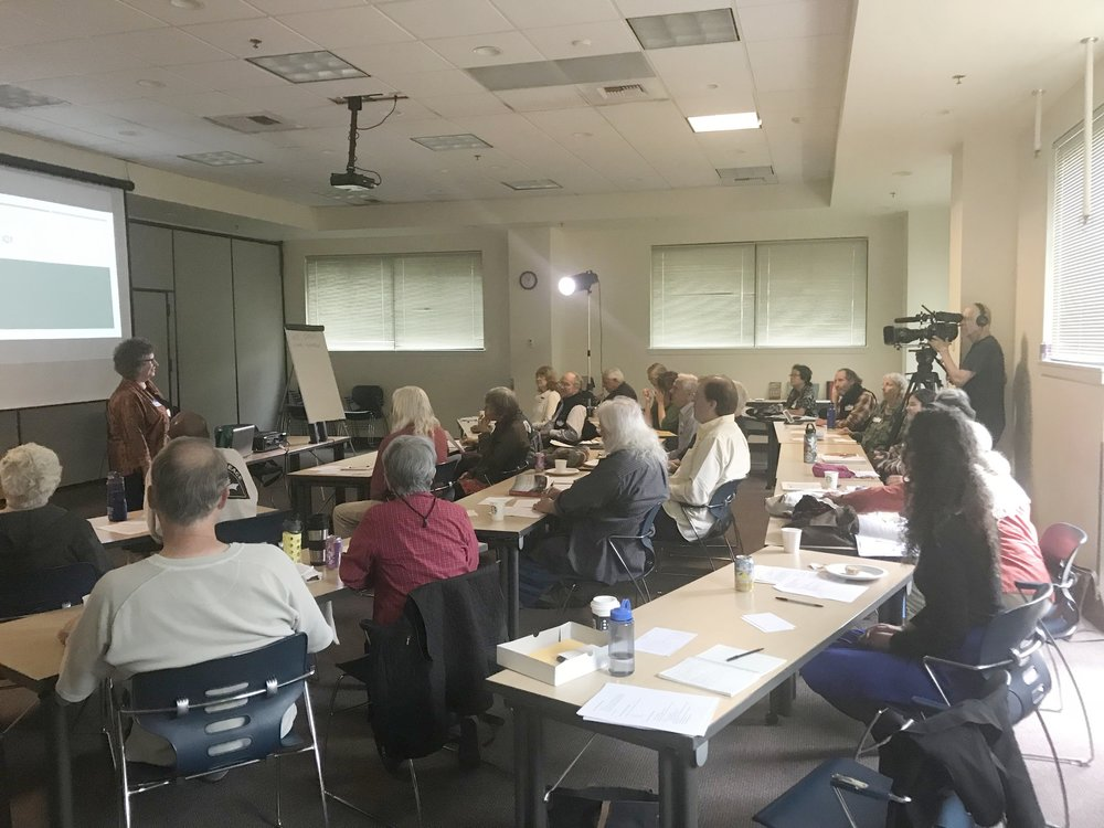WANW Coalition  Nuclear Weapons Speaker Training held at Mount Baker on June 30th, 2018