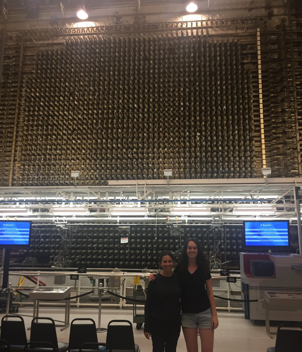 Security Program Coordinator , Lilly Adams and  Security Program Intern , Marcelle Zoughbi, at the Hanford Site.