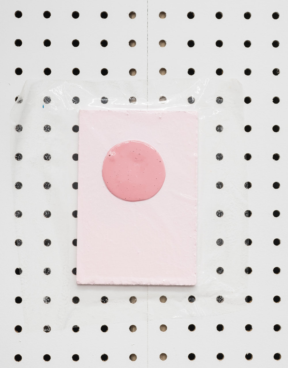 Jeanie Riddle. Bedroom Paint Sample, 2018. Paper, acrylic, plastic. [Photo by Morgane Clément-Gagnon]