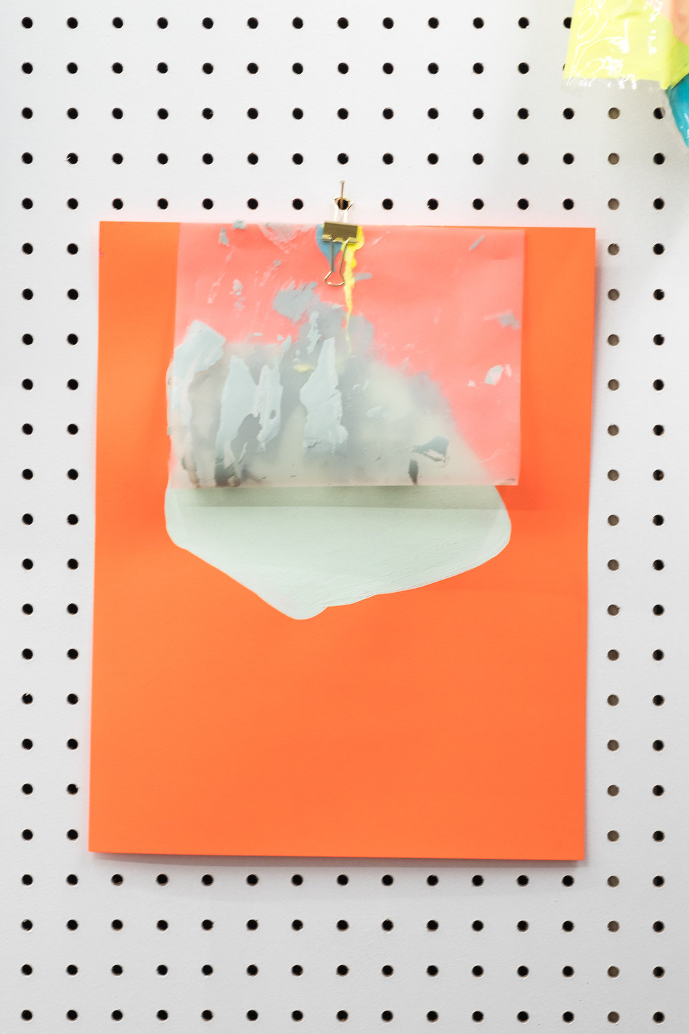 Jeanie Riddle. Umbrella (Orange), 2018. Paper, acrylic, plastic, metal. [Photo by Morgane Clément-Gagnon]