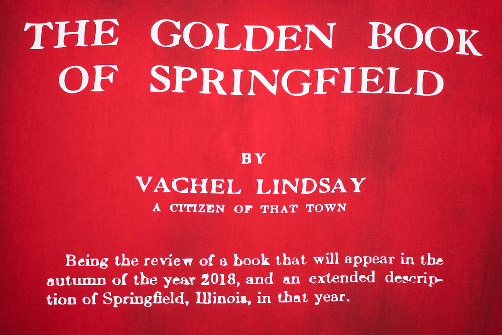 Copy of Guillaume Adjutor Provost, Detail of The Golden Book of Springfield, 2018 [Photo by Morgane Clément-Gagnon]